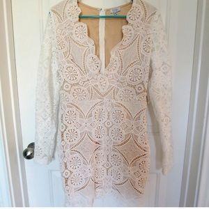 NWT White and Nude Bachelorette Dress